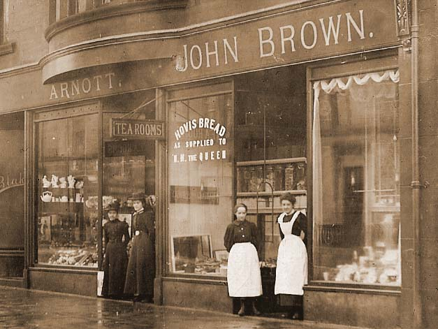 Bakery in Moss Road, Kilmacolm, Scotland circa 1900
