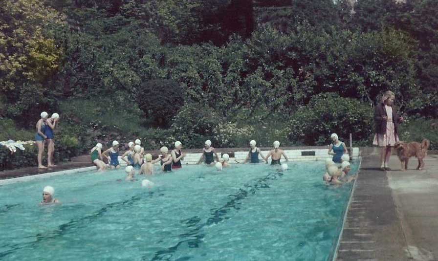 The swimming pool at Hampton House c. G Taylor