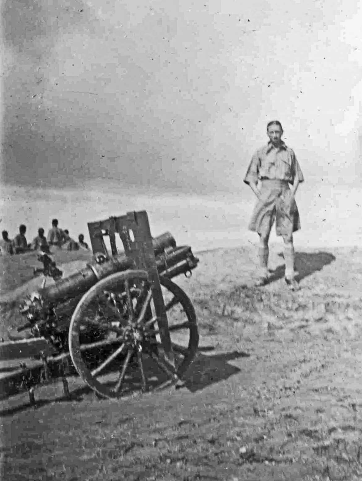 Jock and 3.7 inch mountain Howitzer