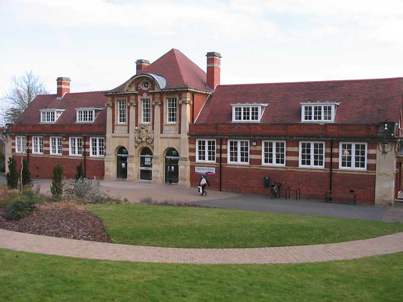 Malvern library viewed from the old entrance in Graham Road