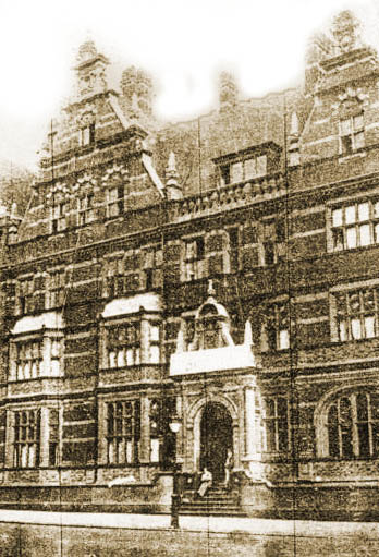 Front of the Michie hospital circa 1917