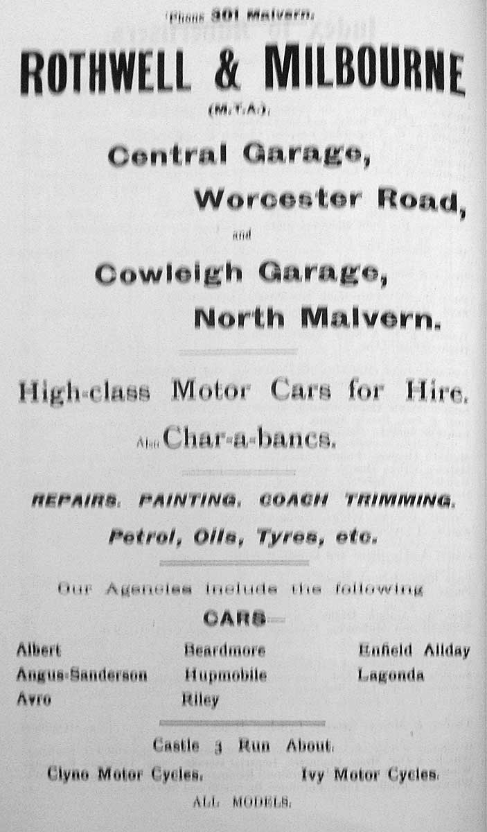 Advert for RM 1922