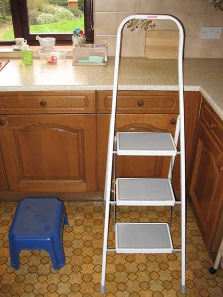 Step stool and kitchen steps; click for larger image