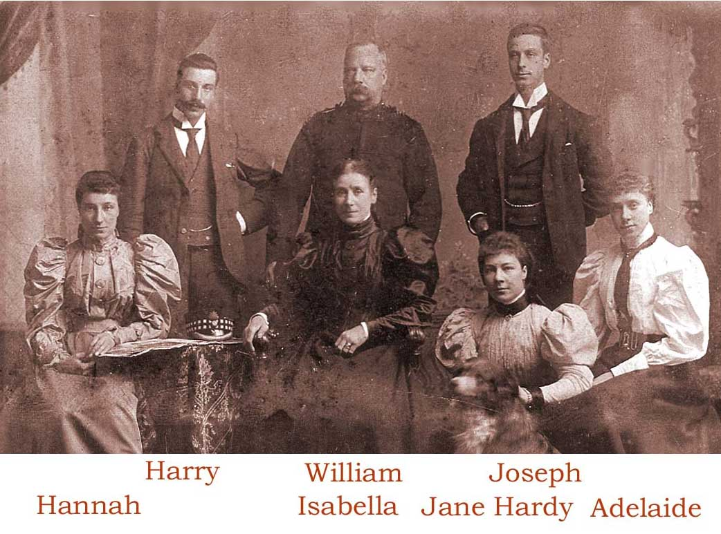 Family group in Ayr, Scotland circa 1898