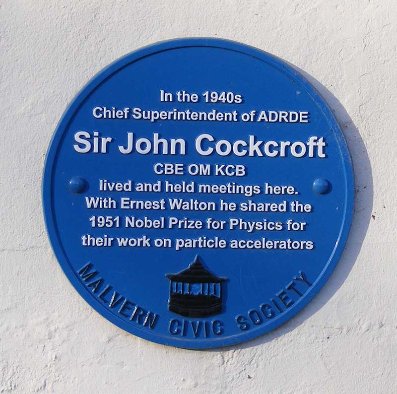 Plaque in memory of Sir John Cockroft