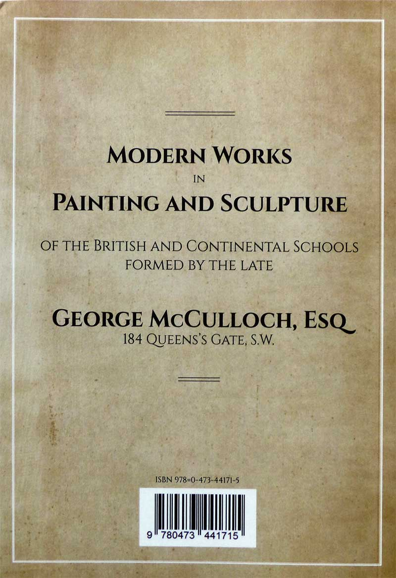 Rear cover of book  The McCulloch Collection