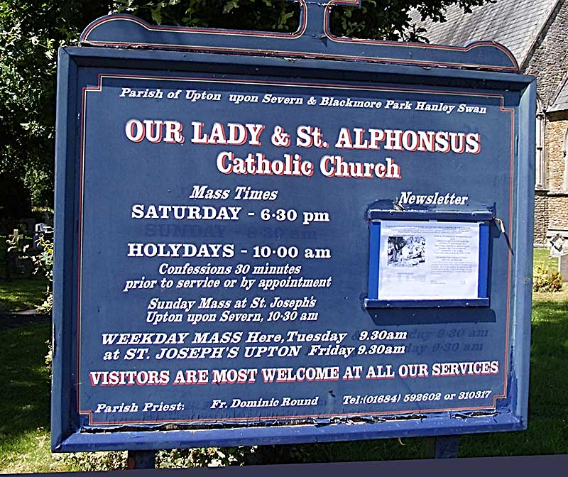 Blackmore RC Church sign
