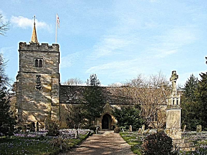 Birlingham church March 2010