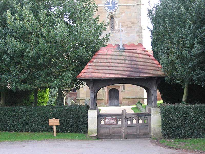 Powick church, lychgate