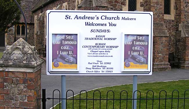 Sign outside St Andrews