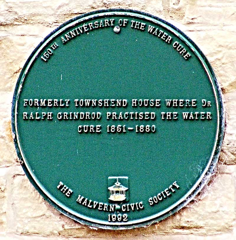 Plaque on Townshend House 2013