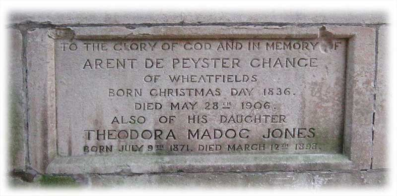 Memorial to Aren de Peyster Chance