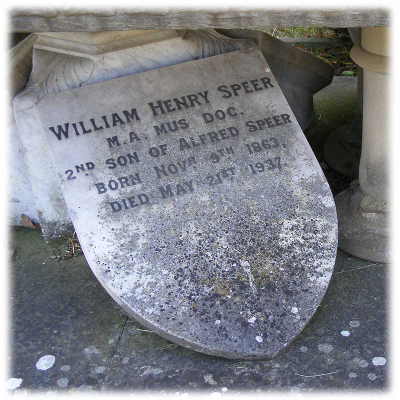 Memorial to William Henry Speer by AMC