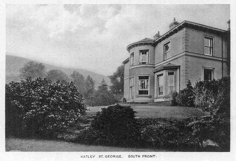 Hatley St George, south front