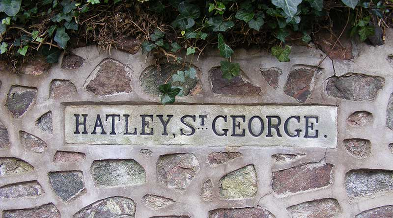 Hatley St George sign
