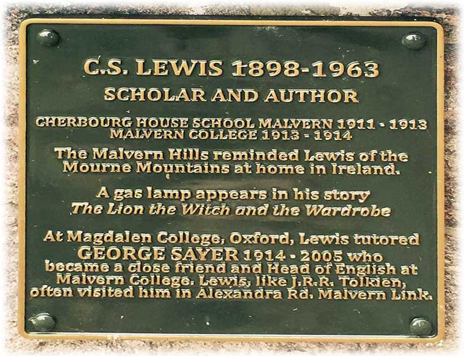 CS Lewis plaque