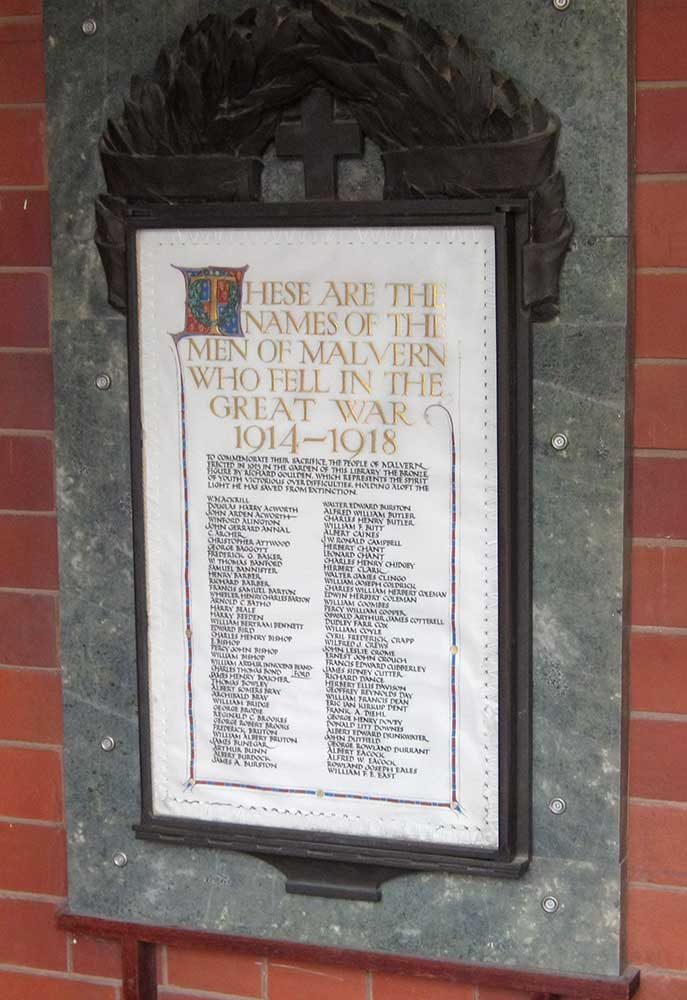 Memorial to fallen of the Great War