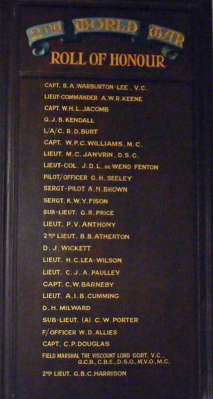 Link School Roll of Honour