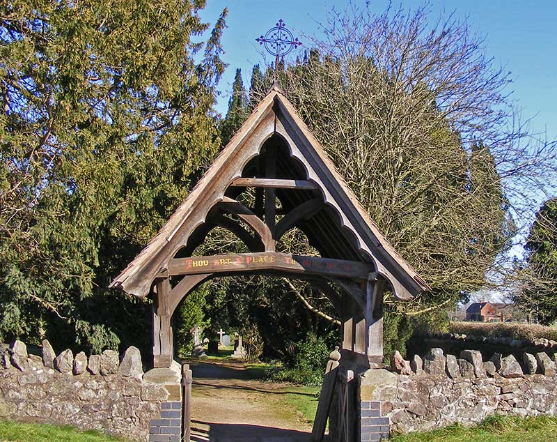 Madresfield church lychgate