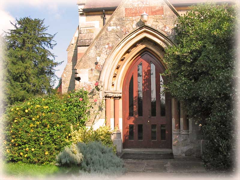 The entrance tp MAdresfield church