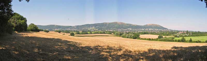 Eastern slopes of the Malvern Hills viewed from Oxhill