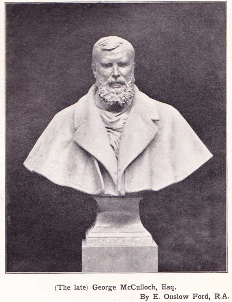 Bust of George McCulloch
