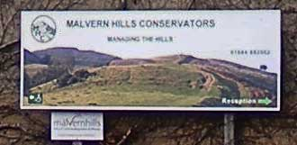 Malvern Hills Conservators sign