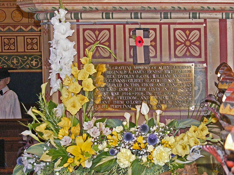 Choir boys' memorial