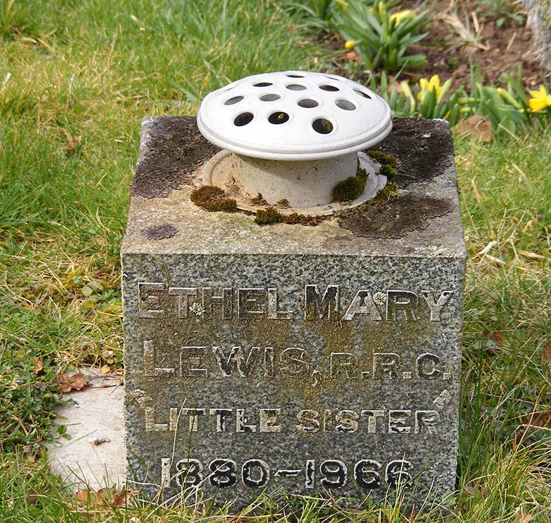 Grave of Ethel Mary Lewis