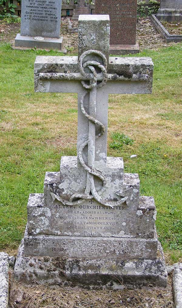 Headstone of Walter Bouchier Devereux