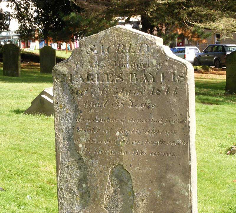Headstone, Charles Bayliss