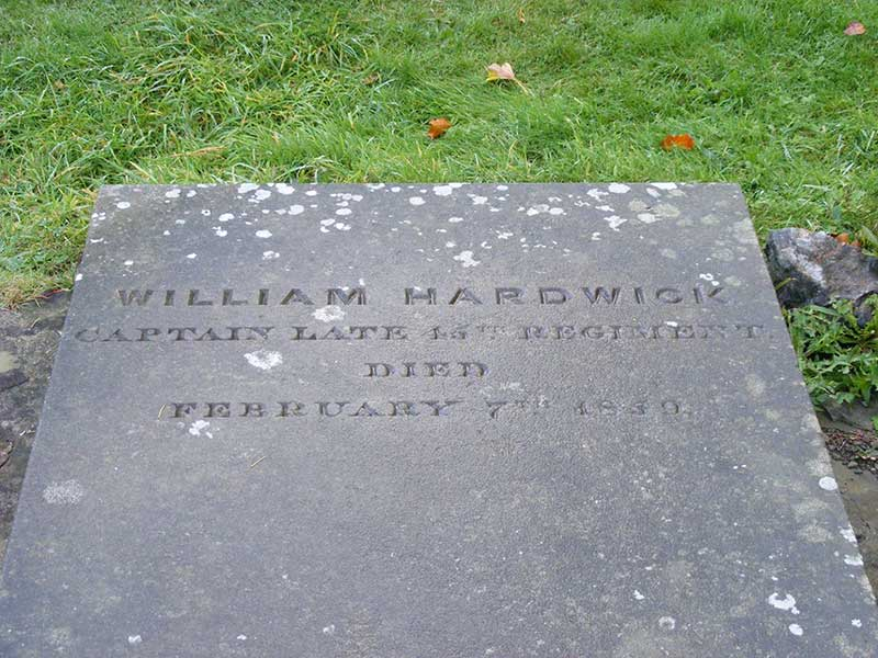Gravestone, William Hardwick d1859