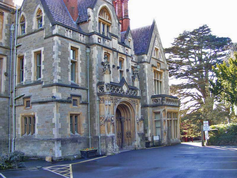 Priory park mansion entrance