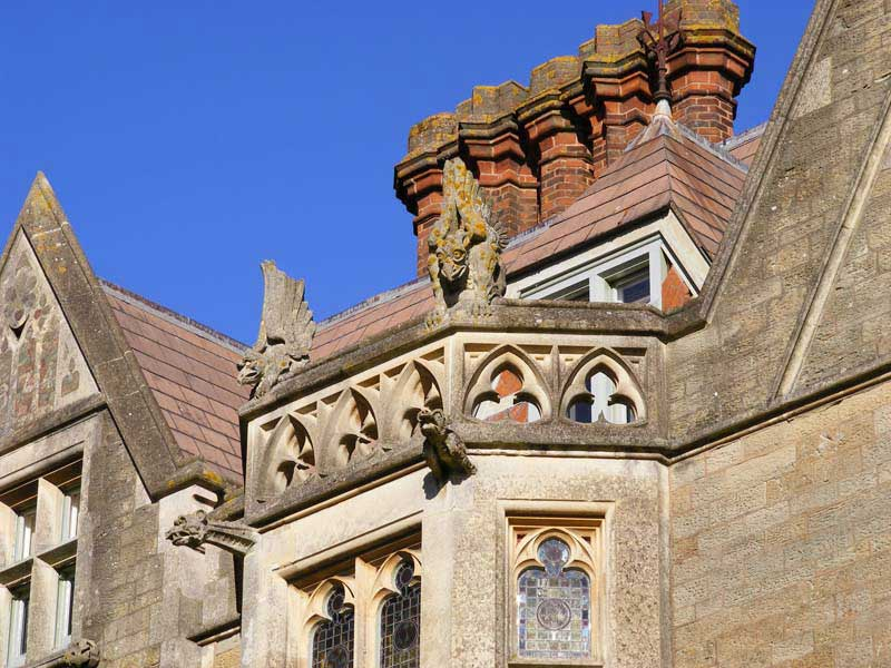 Gargoyles on Priory Mansion