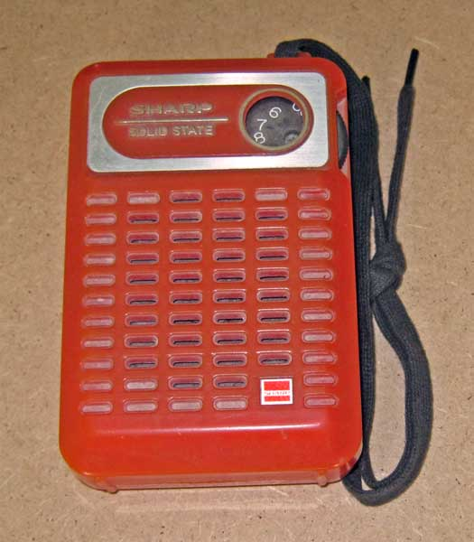Sharp pocket radio circa1980