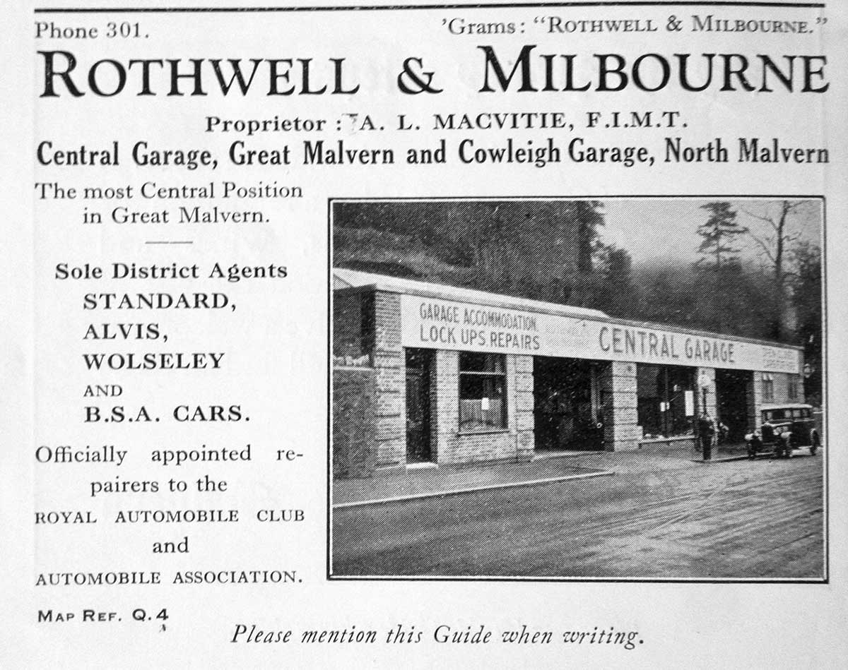 Central Garage Great Malvern 1935