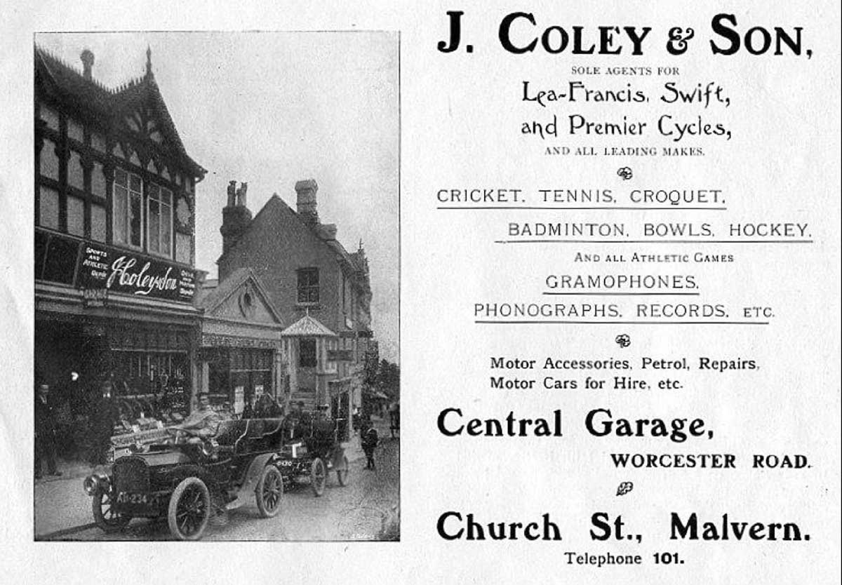 Coley and Son shop in Great Malvern