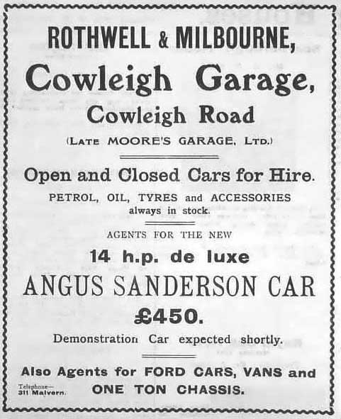 Rothwell and Milbourne advertisement