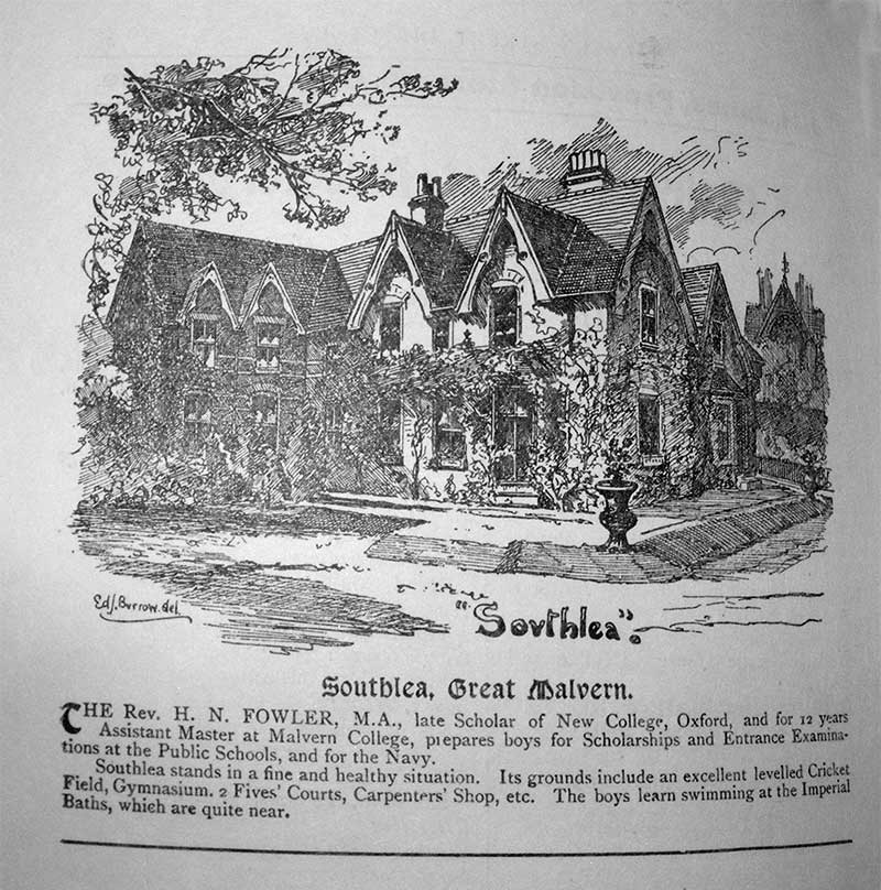 Advertisement for Southlea 1901