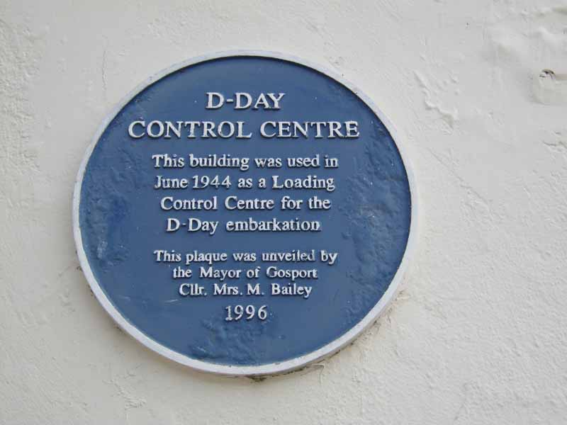 D Day Control Centre Plaque