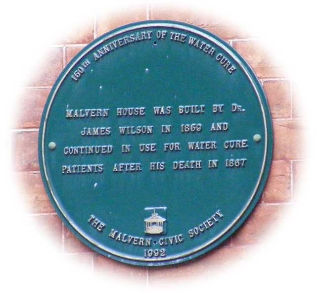 Plaque on Malvern House