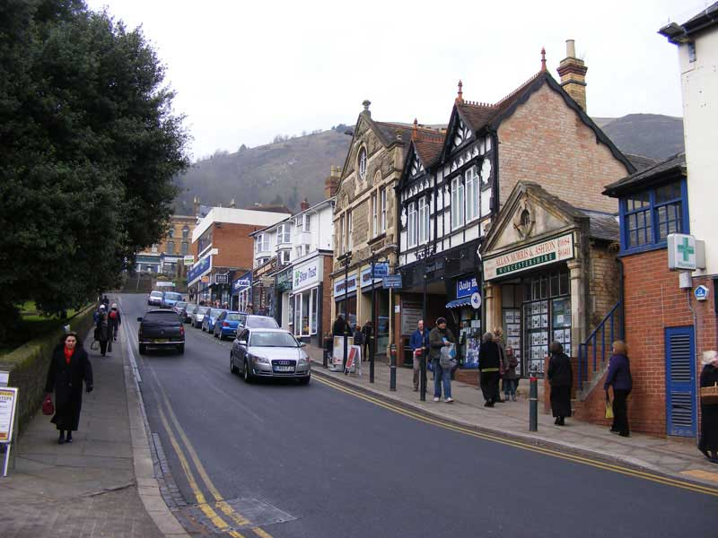 Looking up Church Street Great Malvern