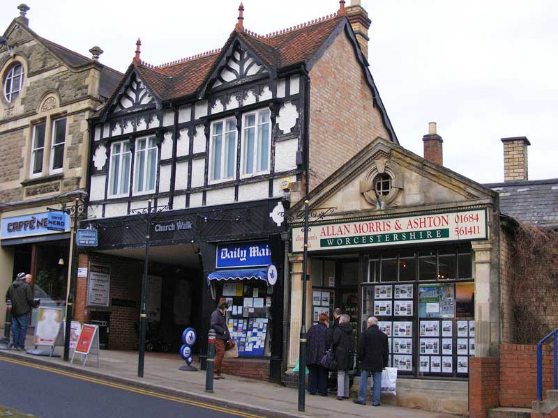 Shops in Church Street Great Malvern