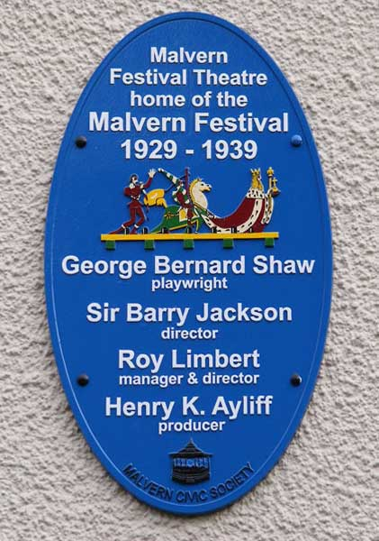 Theatre plaque