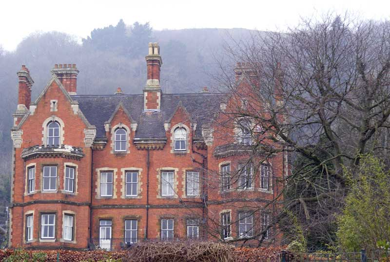 The rear of Malvern House